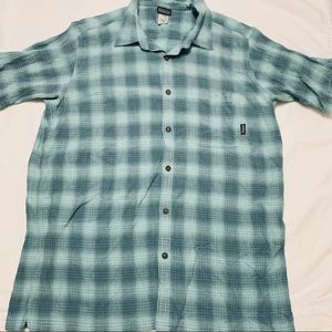 Patagonia Organic Cotton Green Button Down Polo